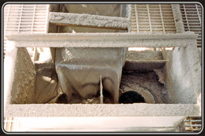 Swiveled chute and a divided hopper box